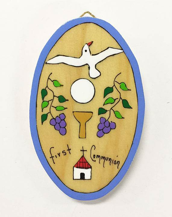 Oval First Communion Wall Plaque from El Salvador