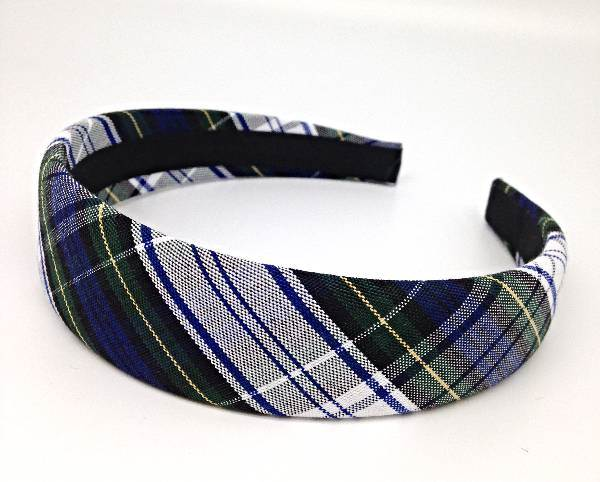 Padded Headband, Plaid #80