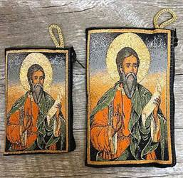 Pantocrator, Christ Savior and Life Giver, Woven Pouch from Turkey