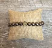 Pearl Blessing Bracelet with Brown Swarovski Pearl Beads