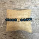 Pearl Blessing Bracelet with Dark Sea Swarovski Pearl Beads