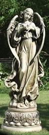 Pedestal Angel with Dove Statue