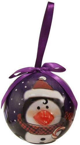 Penguin Lighted Nose Ball Ornament light up ornament, lighted ornament, ball christmas ornament, penguin ornament, penguin christmas ornament