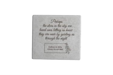 Perhaps the Stars Personalized Memorial Garden Stone