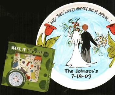 Personalizable Wedding Plate