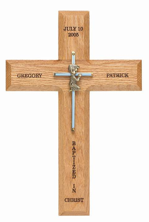 Personalized Girl Baptism Cross