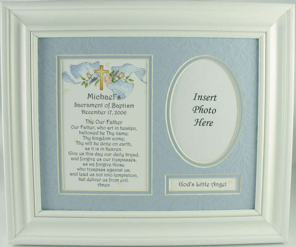 Personalized Baptism Frame