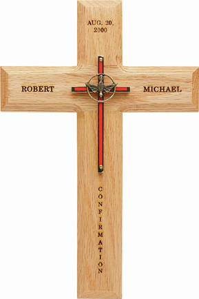 Personalized Confirmation Wall  Cross