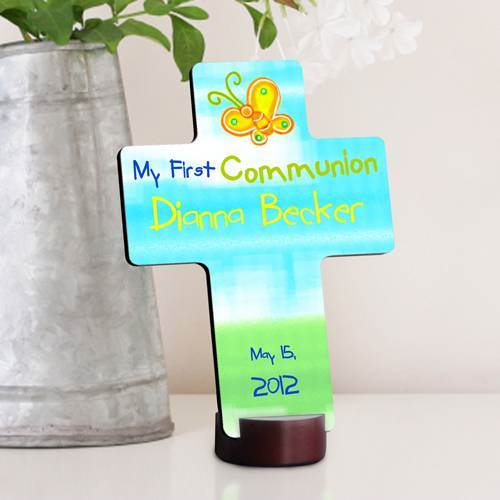 Personalized First Communion Cross first communion cross, personalized cross, boy cross, girl cross, custom cross, holy eucharist cross, first  communion gift, girl gift, boy gift, special occasion gift, sacramental gift,