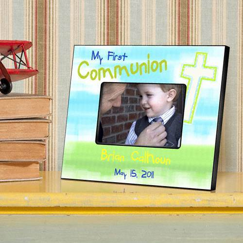 Personalized First Communion Frame personalized frame, first communion frame, holy eucharist frame, girl gift, boy gift, picture frame,  frame,