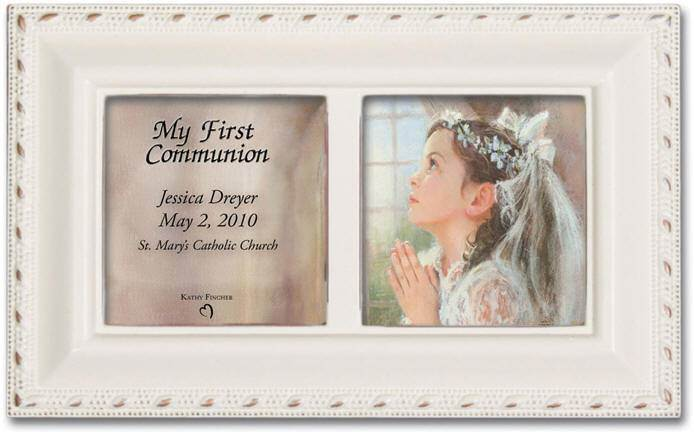 Personalized First Communion Music Box