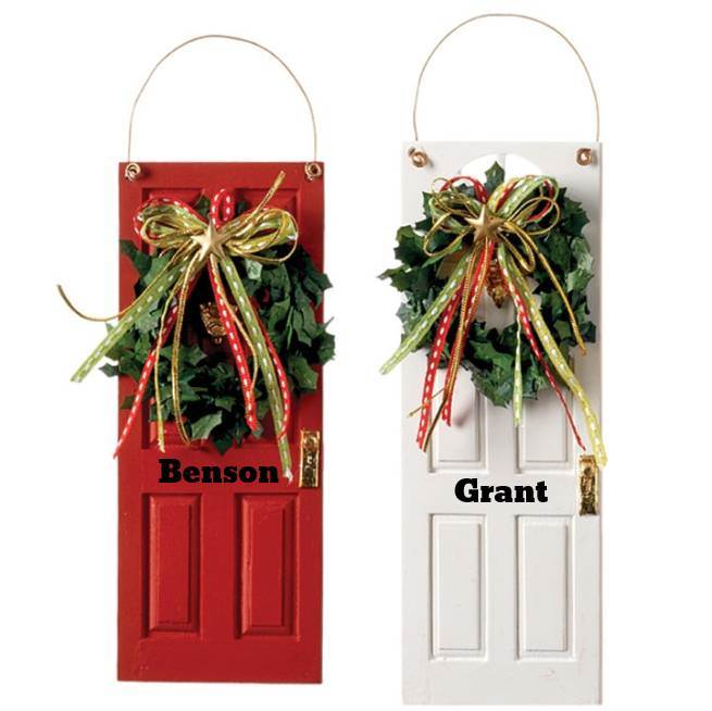 Personalized Front Door Ornaments