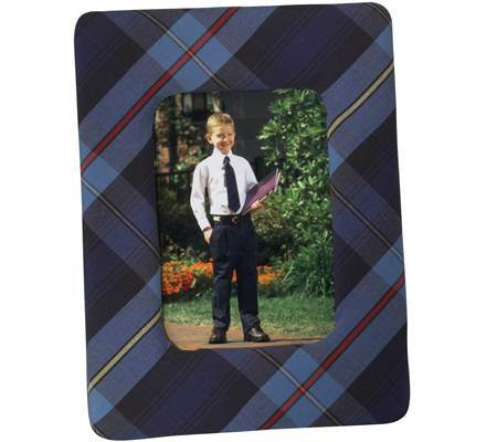 Custom School Plaid Picture Frame