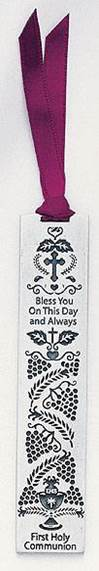 Pewter First Communion Bookmark
