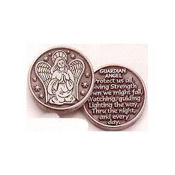 Pewter Guardian Angel Pocket
