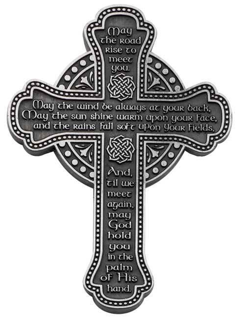 Pewter Irish Blessing Wall Cross