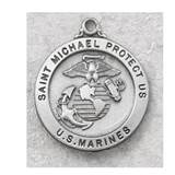 "Pewter Marines Pendant on 24"" Chain"