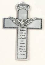 Pewter Sponsor Wall Cross wall cross, wall crucifix, confirmation cross, holy spirit cross, confirmation gift, sacrametnal gift, RCIA gift. sponsor wall cross, sponsor gift