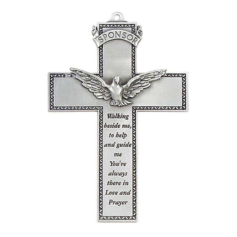 Pewter Sponsor Wall Cross