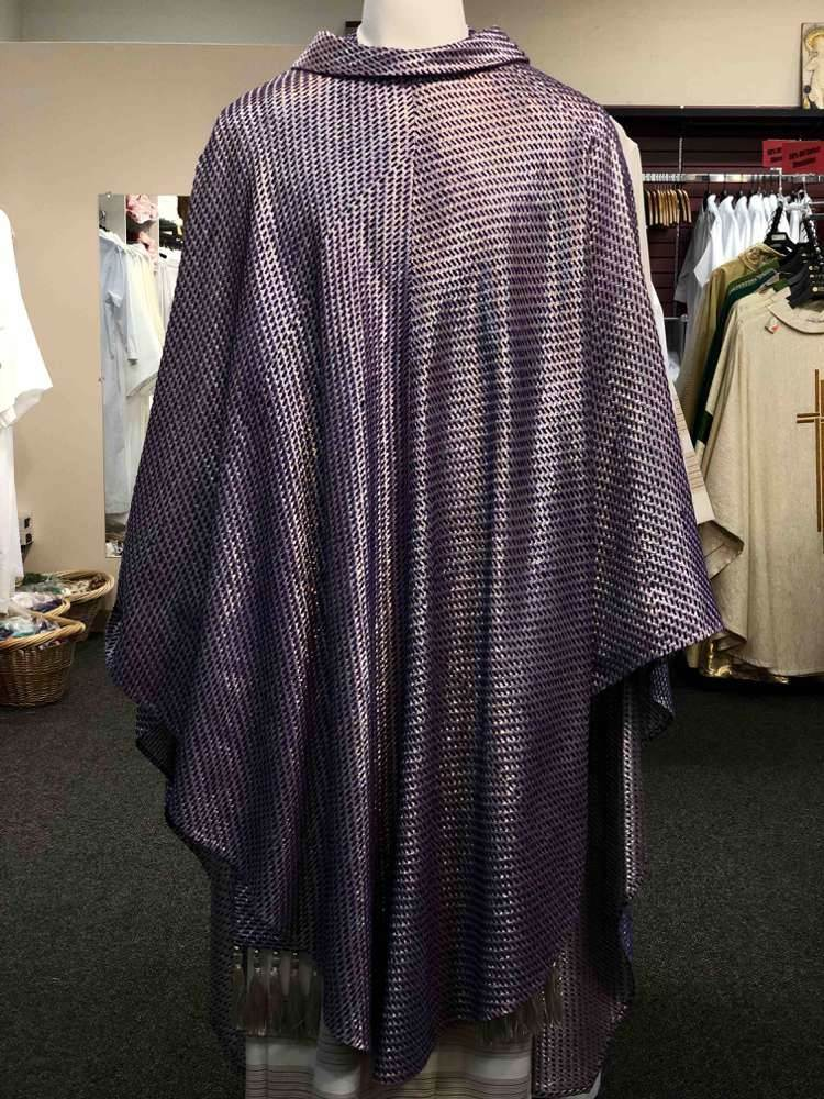 Pietrobon Bruno Purple Woven Chasuble - 58703