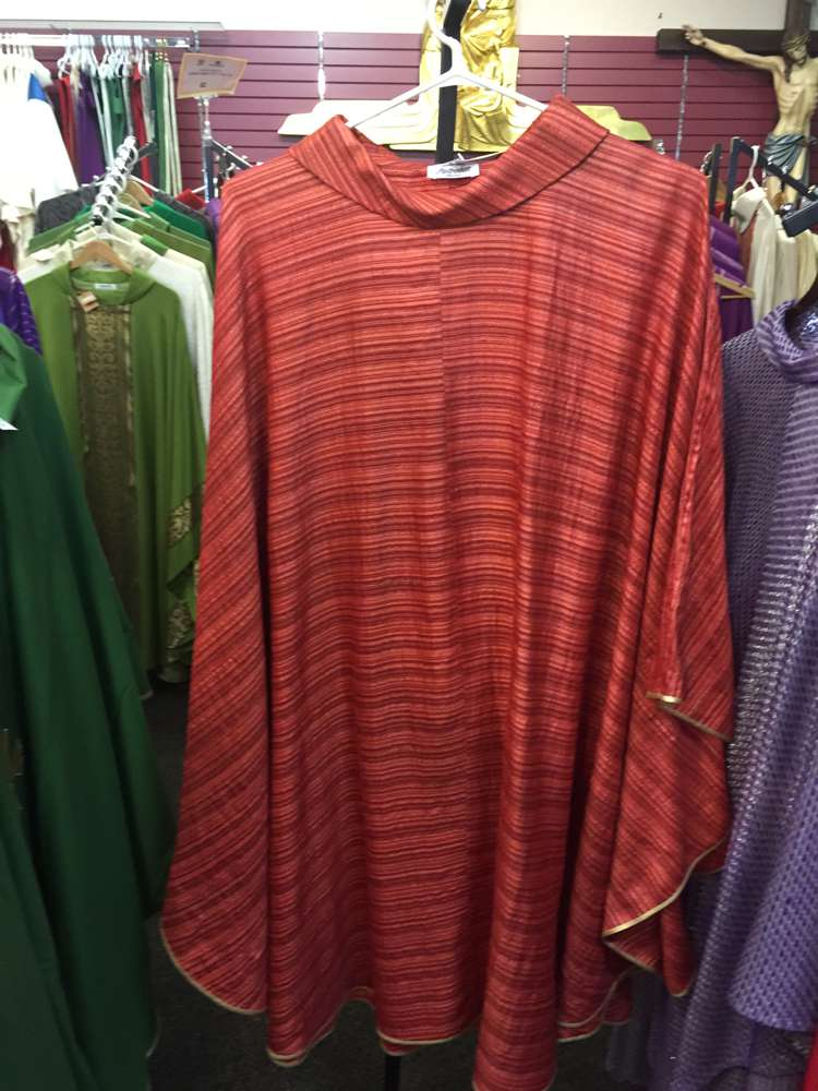 Pietrobon Bruno Red Woven Chasuble