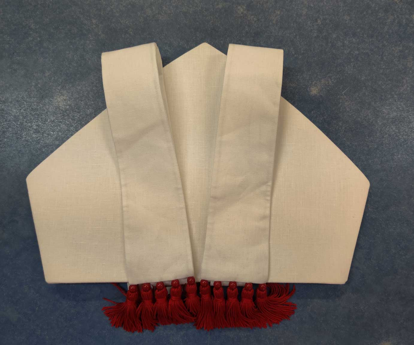 Pietrobon Burno White Mitre with Red Tassels from Italy