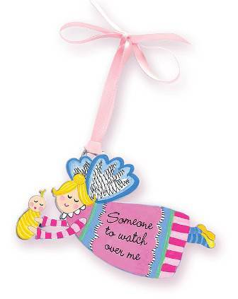 Pink Angel Crib Medal
