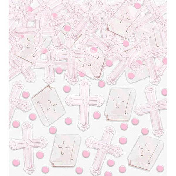 Pink Cross Confetti Mix