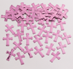 Pink Crosses Confetti Bag