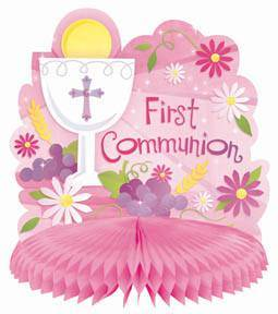 Pink First Communion Centerpiece
