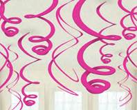 Pink Plastic Swirl Decorations
