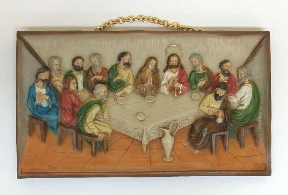 hanging last supper wall plaque
