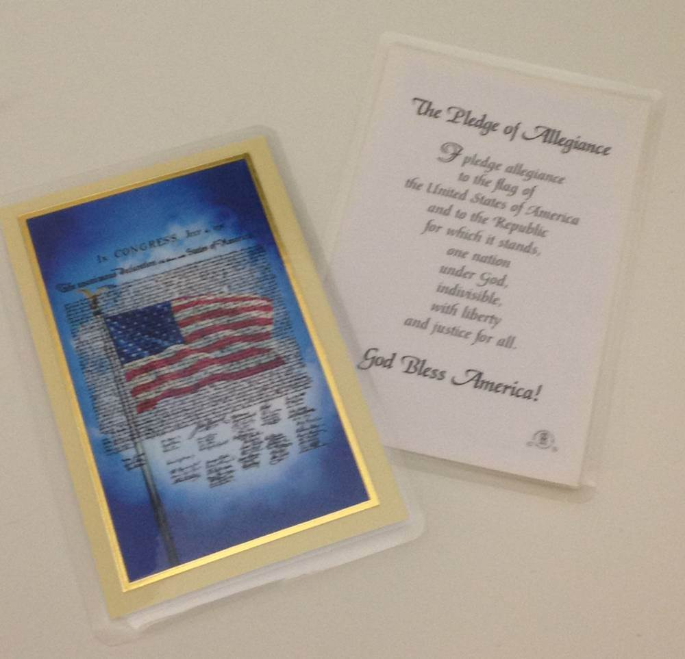 Pledge of Allegiance Prayercard