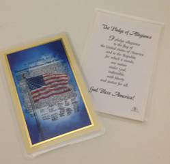 Pledge of Allegiance Prayercard prayer card, inspiration cards, group gift, retreat gifts, message card, christmas prayer card, holy card, military, patriotic, 44460L,