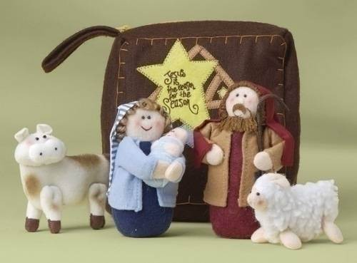 Plush Nativity Figure Set