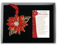 Poinsettia Ornament with Crystals