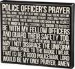 Police Officers Prayer Plaque