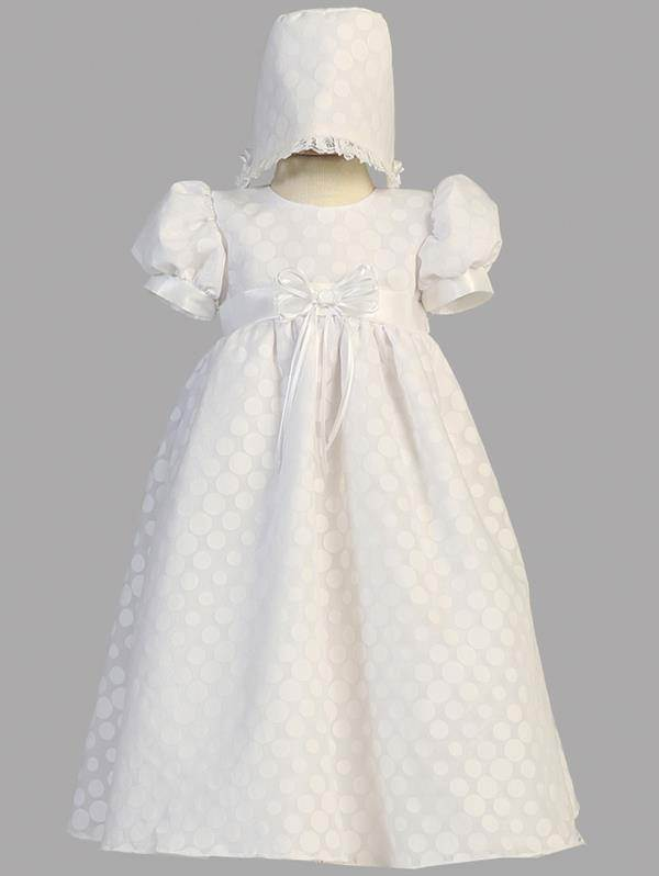 Polka Dot Christening Gown