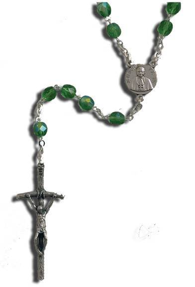 Pope Benedict XVl Rosary rosary aurora borialis, peridot , papel rosary, pope benedict, silver oxidized crucifix, silver oxidized center, sacramental gift, first communion rosary, sacramental rosary,