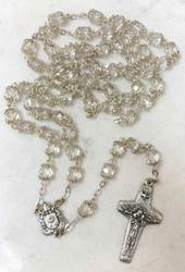 Pope Francis Crystal Bead Rosary