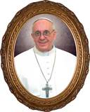 Pope Francis framed print