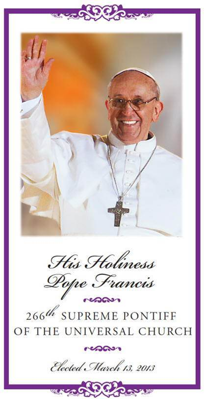 Pope Francis Inspirational Prayer Card pope francis, pope francis prayer card, prayer card, papel card, quantity discounts,