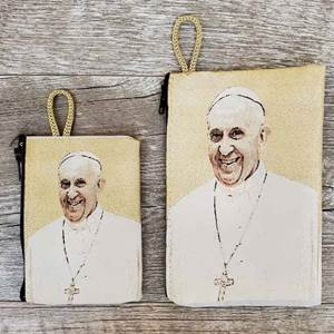 Pope Francis Woven Rosary Pouch from Turkey