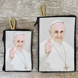 Pope Francis (Waving) Rosary Pouch from Turkey
