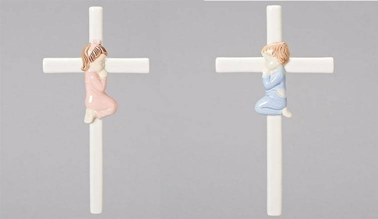 Baby Porcelain Wall Cross