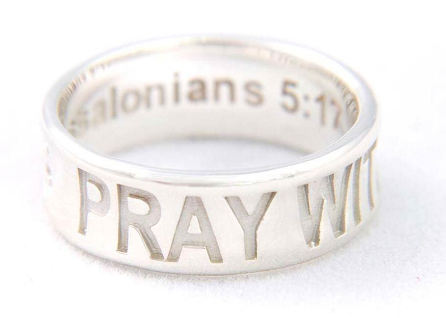 Pray Without Ceasing Ring*WHILE SUPPLIES LAST* sterling silver ring, silver ring, trendy ring, corintheians, 04415,04416,04417,04418,04419, jewelry,