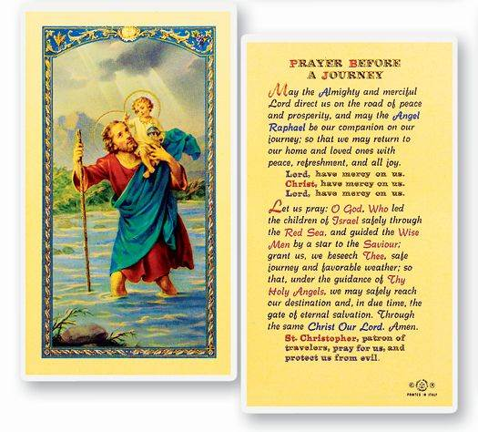 Prayer Before A Journey Holy Card