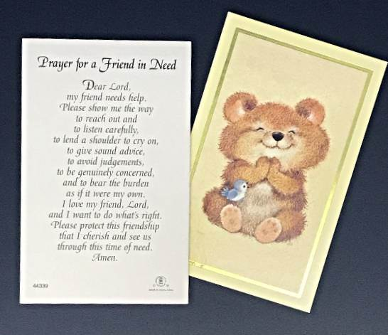 Prayer for a Friend in Need Prayer cards 100/PK
