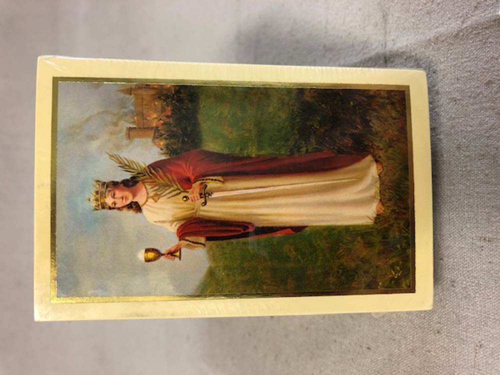 Prayer To Saint Barbara Holy Card 100/PKG | CATHOLIC CLOSEOUT