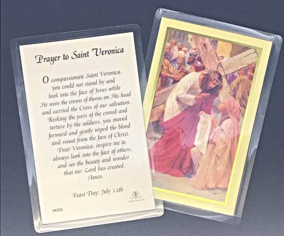 Prayer to St. Veronica Laminated Prayercards 25/PK